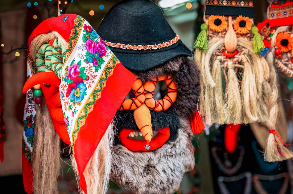 Traditional Romania masks, romanian souvenirs, things to buy from romania