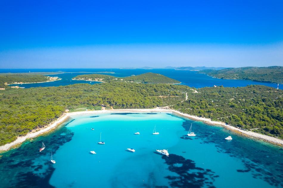 Sakarun Beach aerial view Croatia