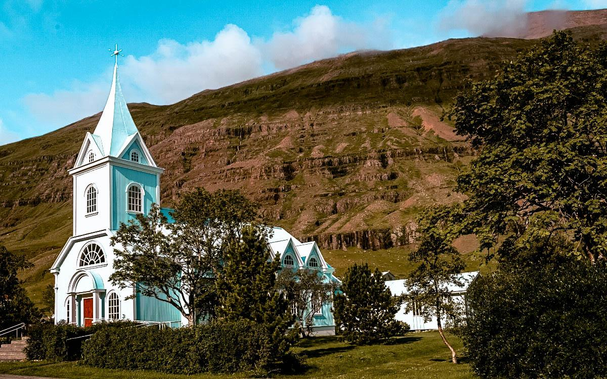 Blue Church Seydisfjordur