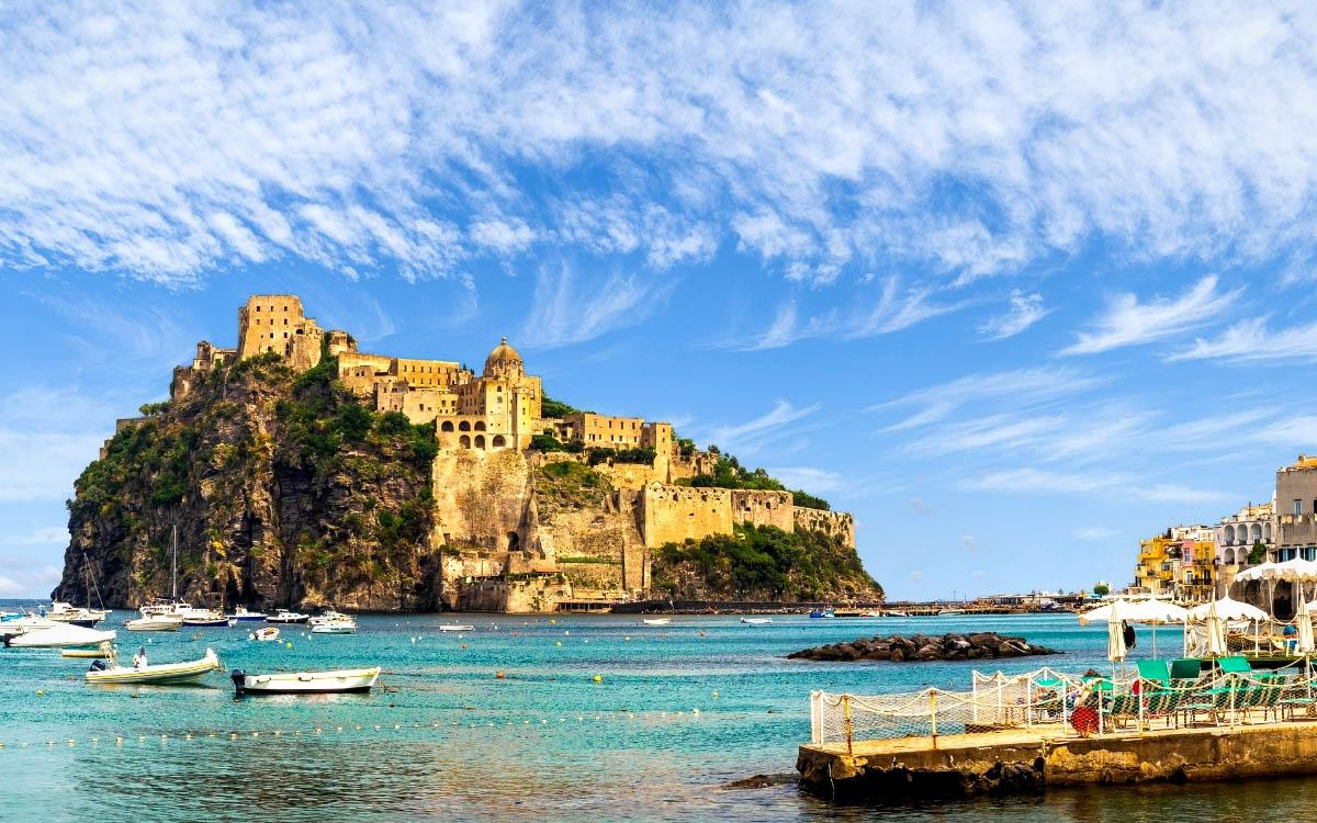 Aragonese Castle, Italy - the most beautiful castles in Europe, fairytale castles in Europe, top castles in Europe, must-visit castles in Europe. unique castles in Europe