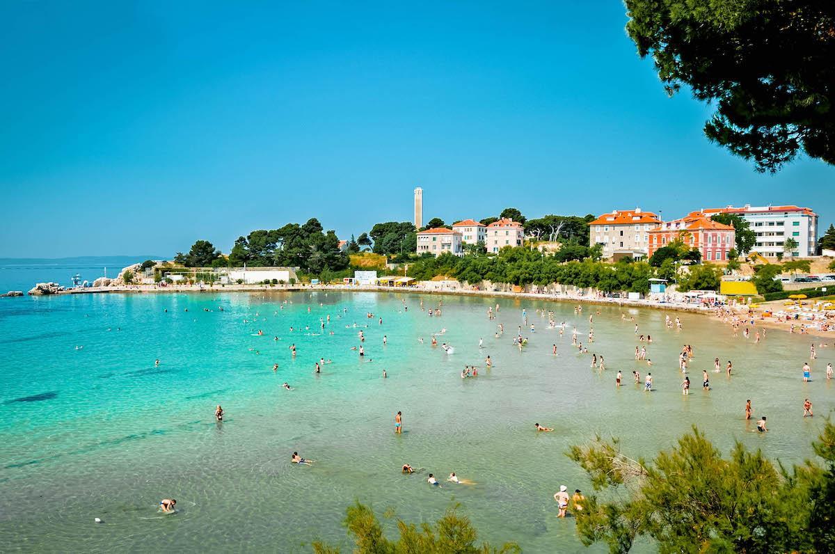 Bacvice Beach Split - best beaches in croatia, top beaches in croatia, most beautiful beaches in croatia, hidden beaches in croatia