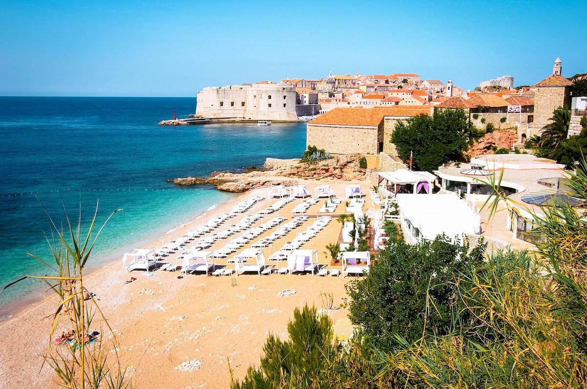 Banje Beach Dubrovnik - best beaches in croatia, top beaches in croatia, most beautiful beaches in croatia, hidden beaches in croatia