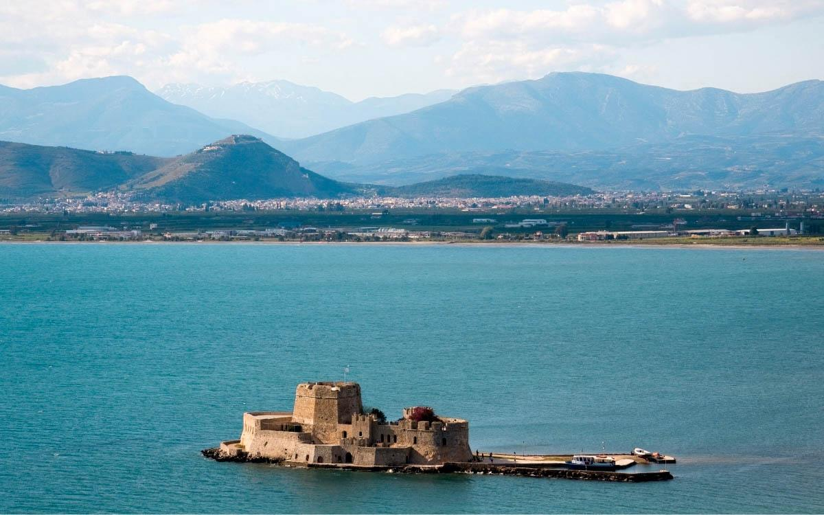 Bourtzi Fortress, Greece - the most beautiful castles in Europe, fairytale castles in Europe, top castles in Europe, must-visit castles in Europe. unique castles in Europe