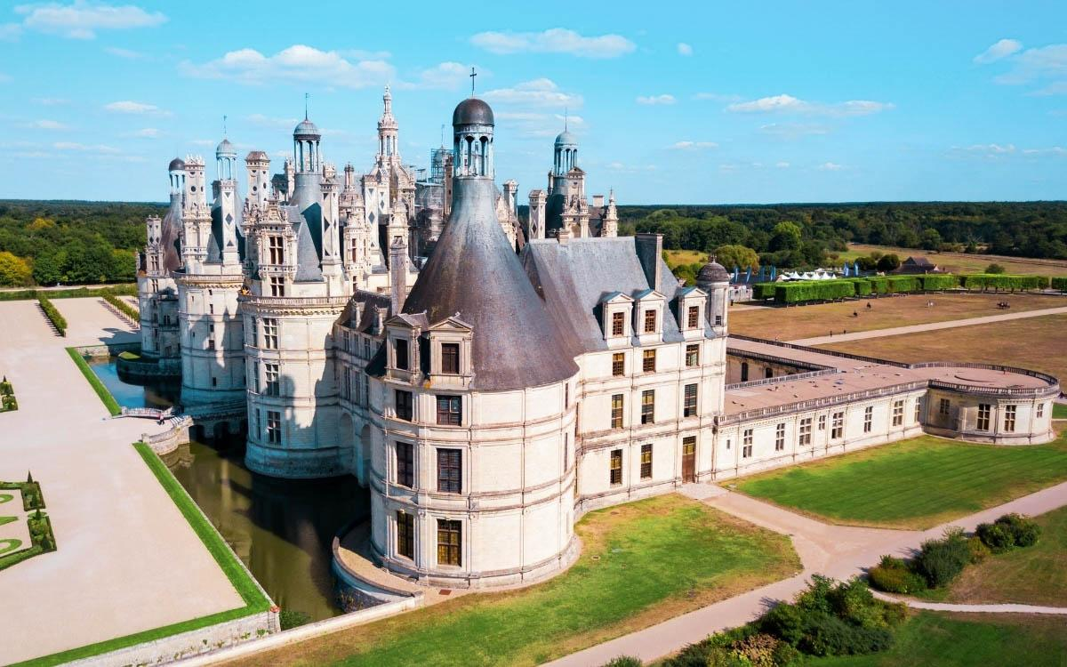Chateau de Chambord, France - the most beautiful castles in Europe, fairytale castles in Europe, top castles in Europe, must-visit castles in Europe. unique castles in Europe