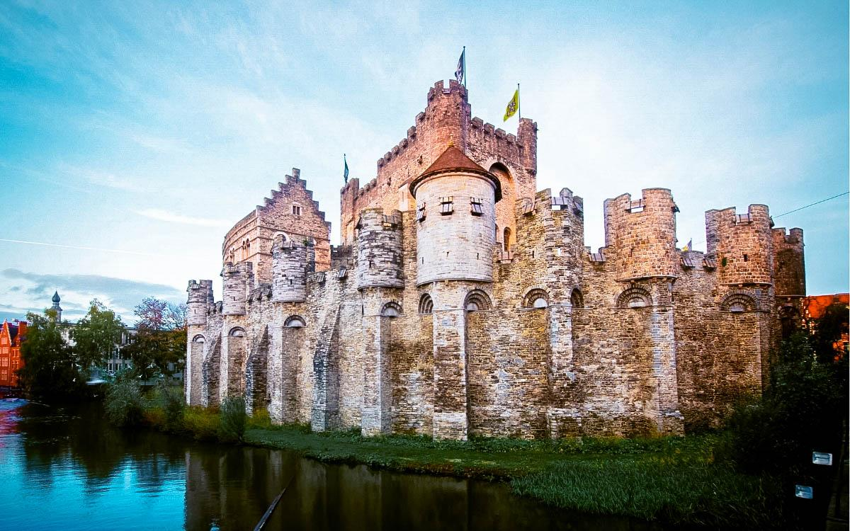 Gravensteen Castle, Ghent - the most beautiful castles in Europe, fairytale castles in Europe, top castles in Europe, must-visit castles in Europe. unique castles in Europe.