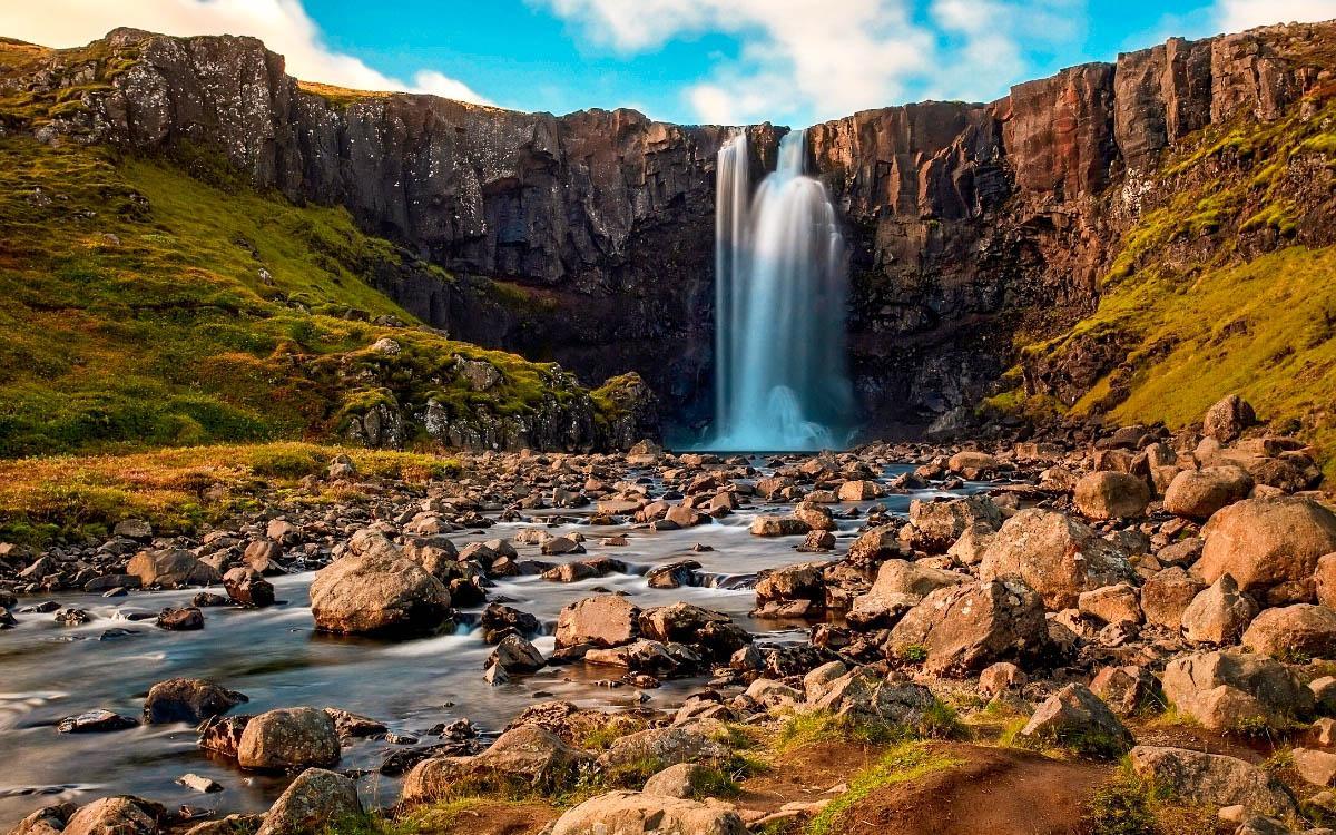 Gufufoss, Gufu Waterfall Iceland