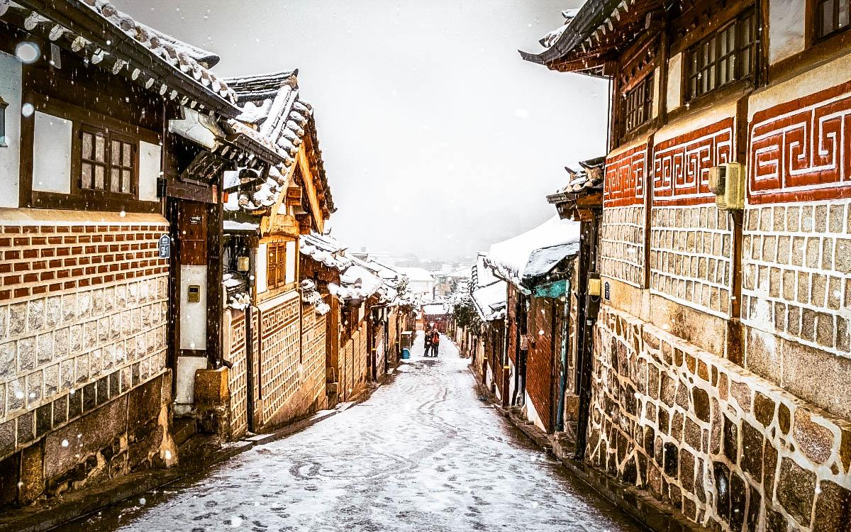 Bukchon Hanok Village in Seoul - things to do in South Korea in winter, South Korea winter activities, visiting South Korea in winter