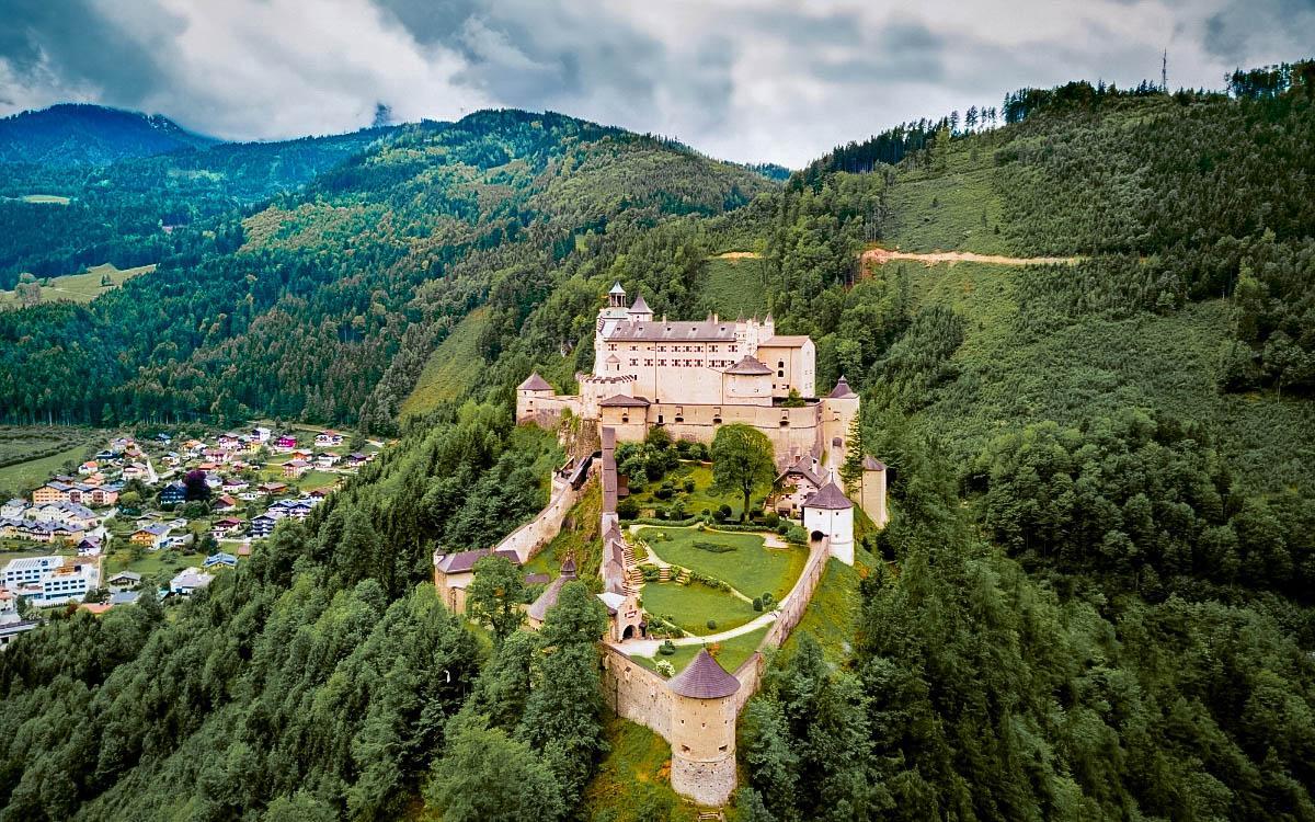 Hohenwerfen Castle, Austria. The most beautiful castles in Europe, fairytale castles in Europe, top castles in Europe, must-visit castles in Europe. unique castles in Europe.