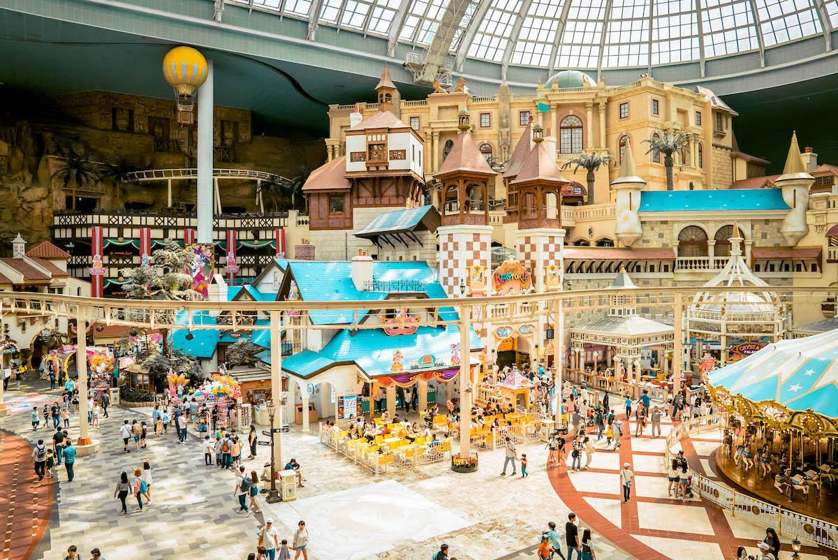 Lotte World Seoul, South Korea. Indoor theme park and attractions - things to do in Korea in Winter, winter destinations in Korea, winter activities in South Korea