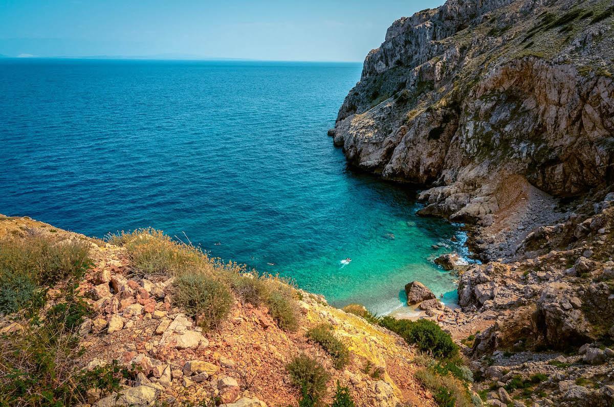 Mali Boc Beach on Cres Island - best beaches in croatia, top beaches in croatia, most beautiful beaches in croatia, hidden beaches in croatia
