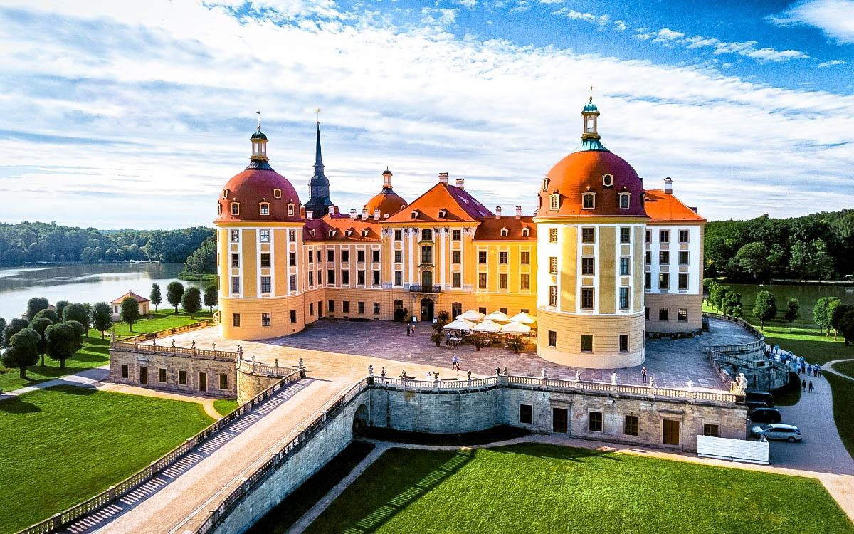 Mortizburg Castle, Germany - the most beautiful castles in Europe, fairytale castles in Europe, top castles in Europe, must-visit castles in Europe. unique castles in Europe