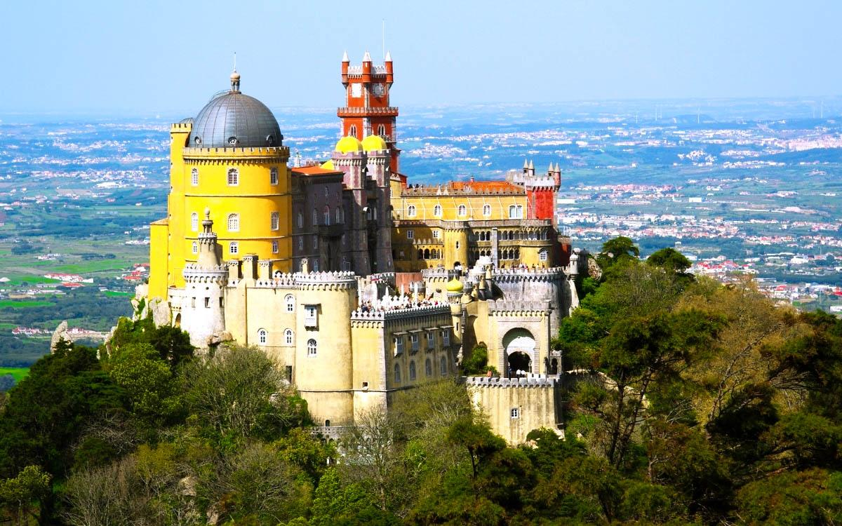 Pena Palace Portugal - most beautiful european castles, top castles in Europe