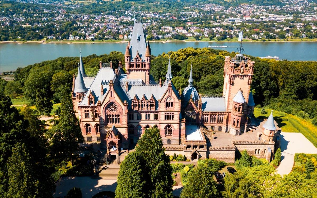 Schloss Drachenburg, Germany - the most beautiful castles in Europe, fairytale castles in Europe, top castles in Europe, must-visit castles in Europe. unique castles in Europe