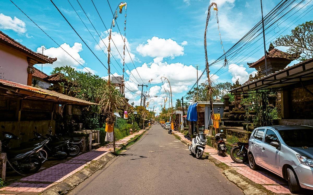 street in Seminyak, Bali