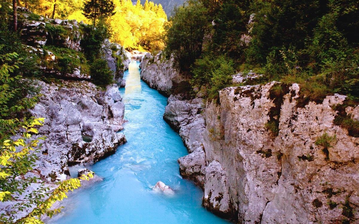 Soca River Slovenia - hidden gems in Slovenia, off the beaten path, Slovenia off the beaten track, Slovenia secret places, Slovenia unique destinations, less known places in Slovenia