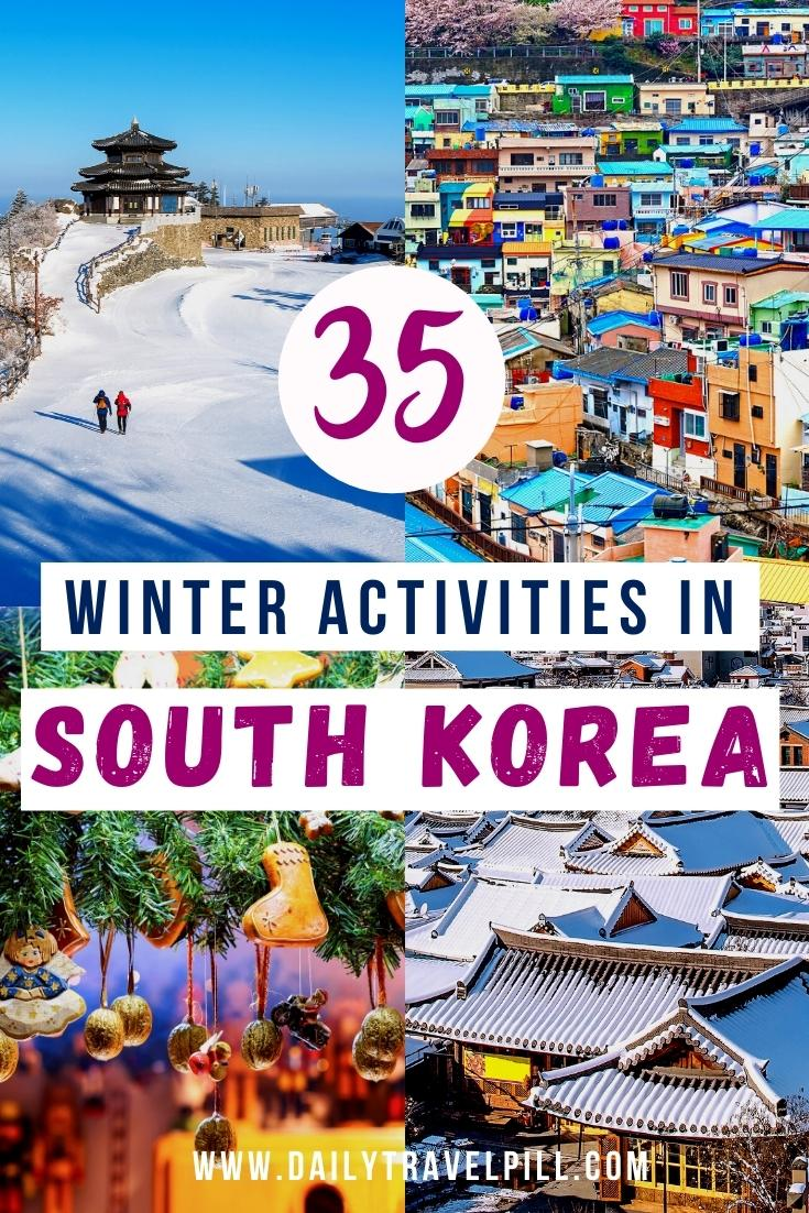things to do in Korea in Winter, winter destinations in Korea, winter activities in South Korea