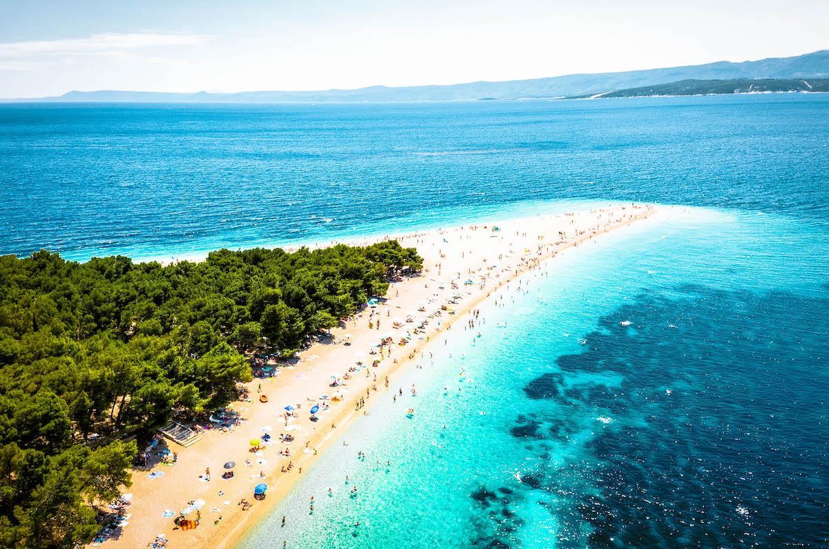 Zlatni Rat Beach Brac Island - best beaches in croatia, top beaches in croatia, most beautiful beaches in croatia, hidden beaches in croatia