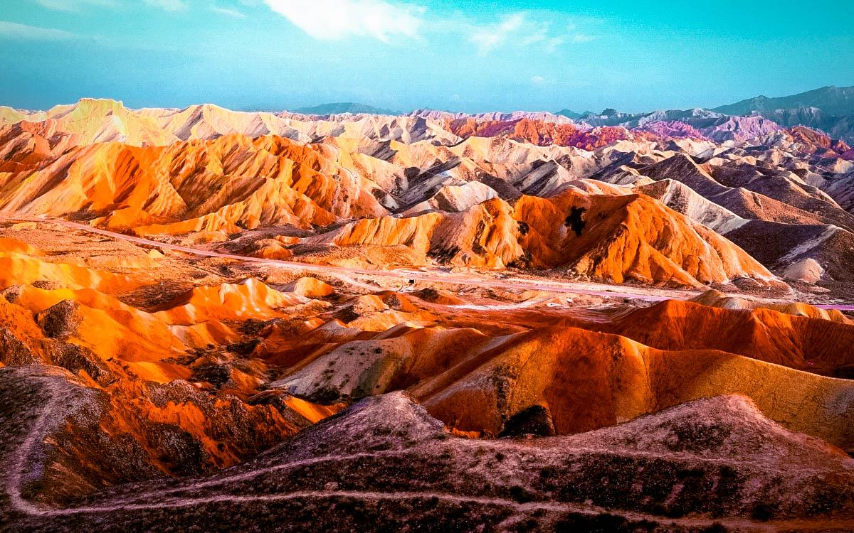 Zhangye Danxia Rainbow Hills China - most colorful destinations in the world, vibrant cities, colorful cities, colorful earth, vibrant places around the world