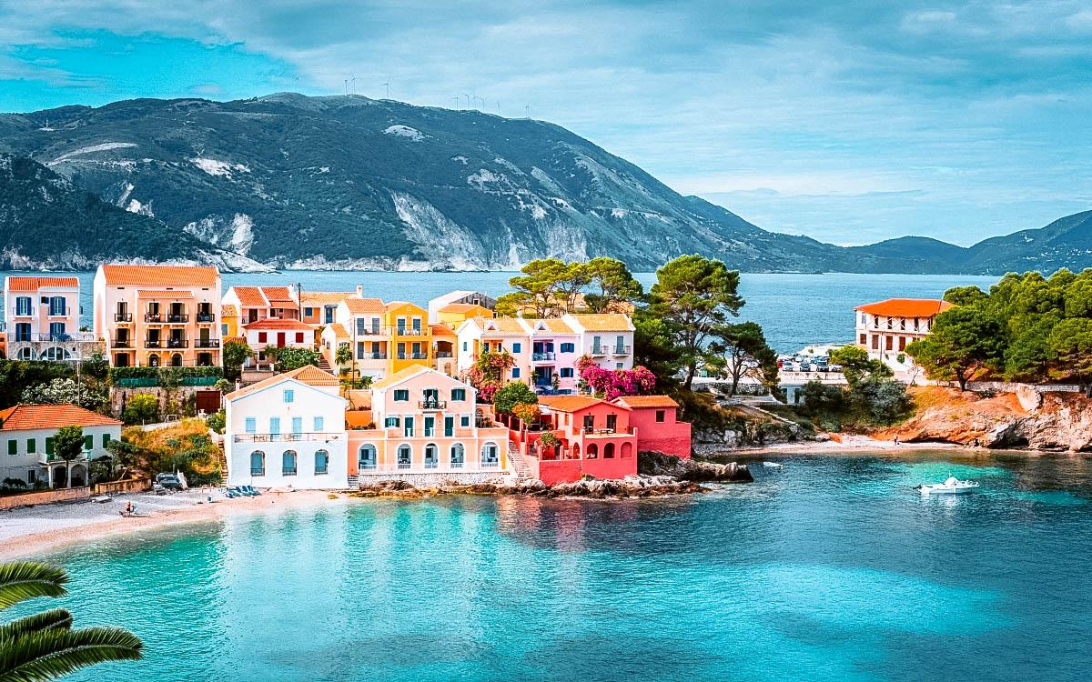 Assos Village Greece - most colorful destinations in the world, vibrant cities, colorful cities, colorful earth, vibrant places around the world