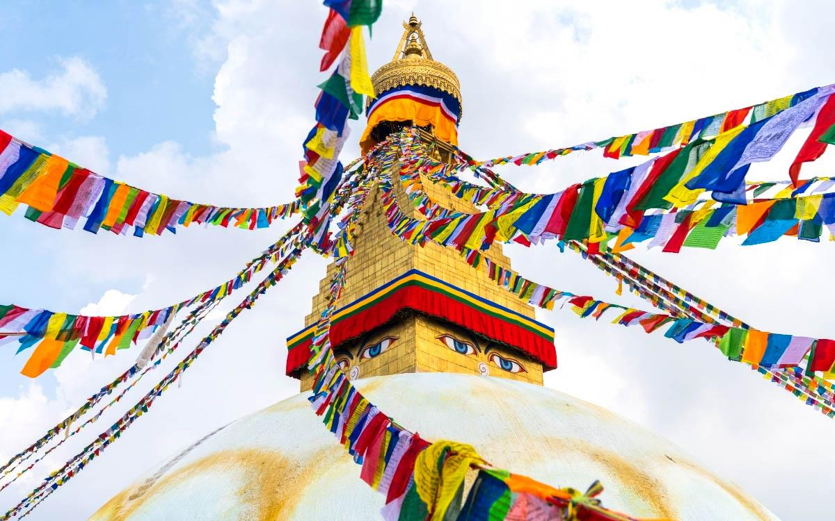 Nepal colorful stupa