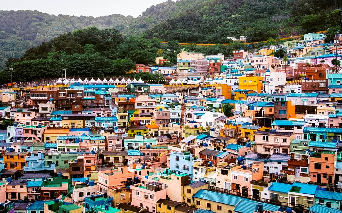 Busan Gamcheon Culture Village - most colorful destinations in the world, vibrant cities, colorful cities, colorful earth, vibrant places around the world
