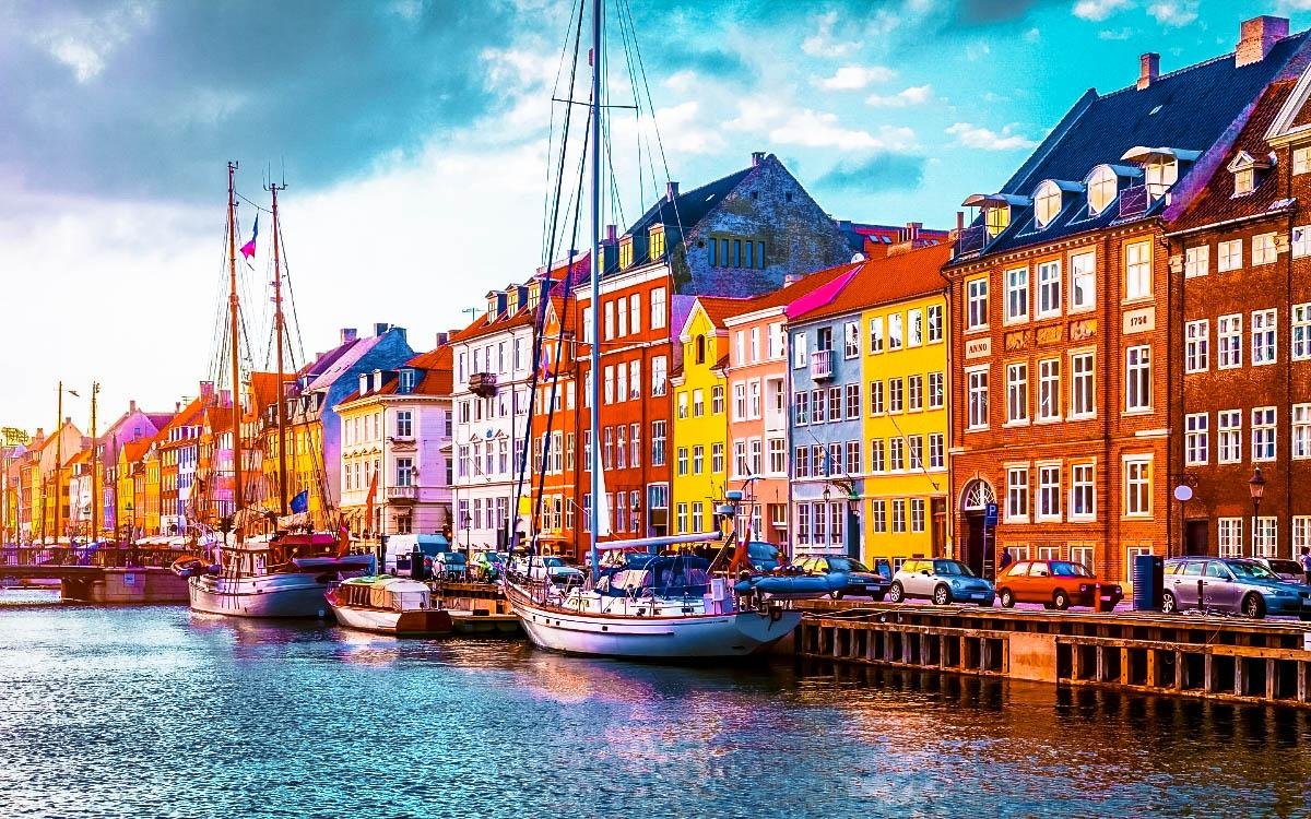 Copenhagen colorful city Denmark - most colorful destinations in the world, vibrant cities, colorful cities, colorful earth, vibrant places around the world