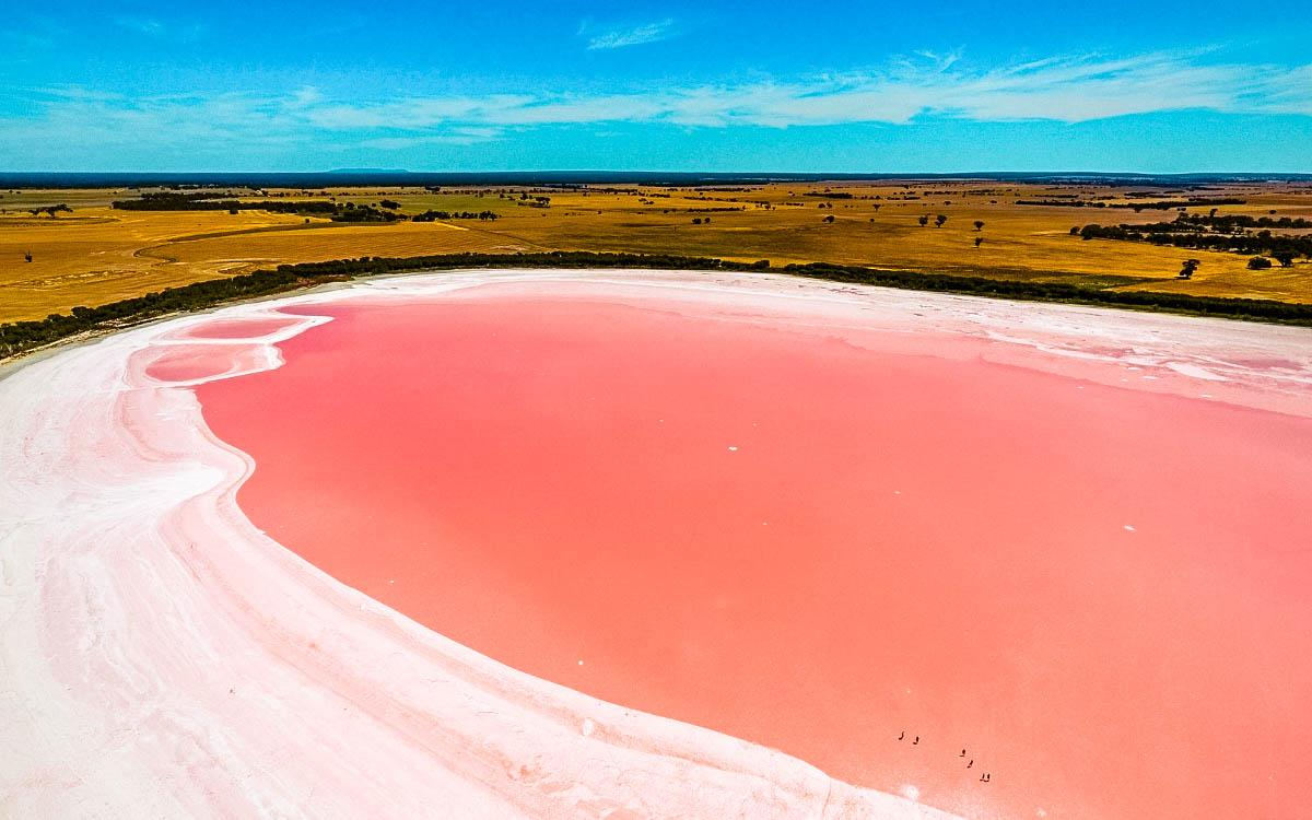 Lake Hillier Australia - most colorful destinations in the world, vibrant cities, colorful cities, colorful earth, vibrant places around the world