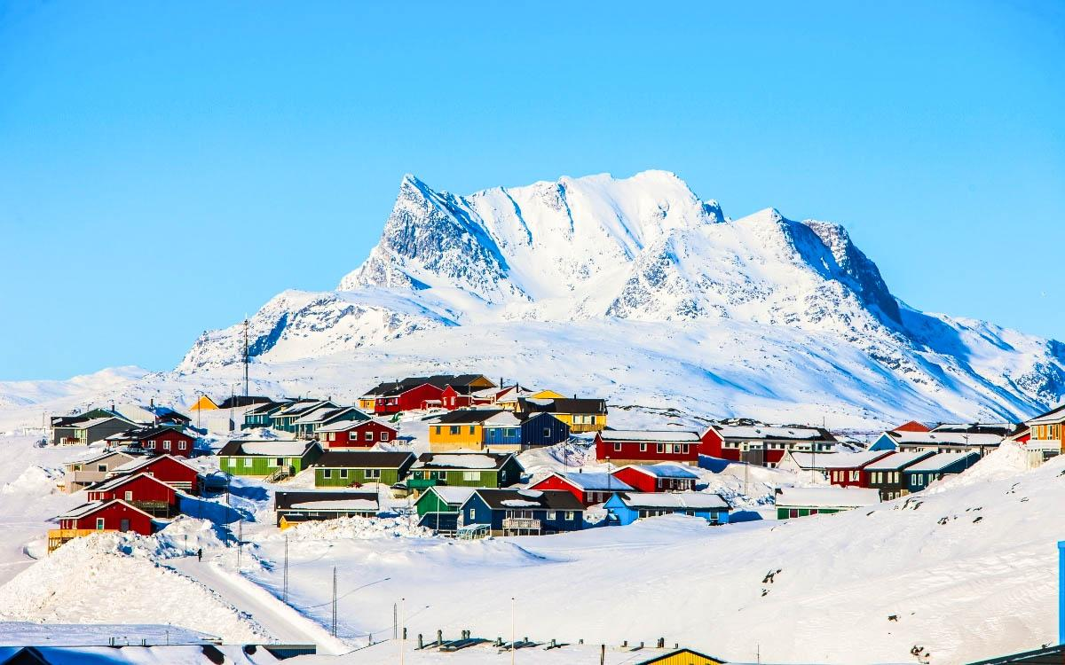 Nuuk Village Greenland - most colorful destinations in the world, vibrant cities, colorful cities, colorful earth, vibrant places around the world
