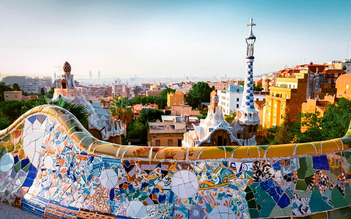 Park Guell Barcelona - most colorful destinations in the world, vibrant cities, colorful cities, colorful earth, vibrant places around the world