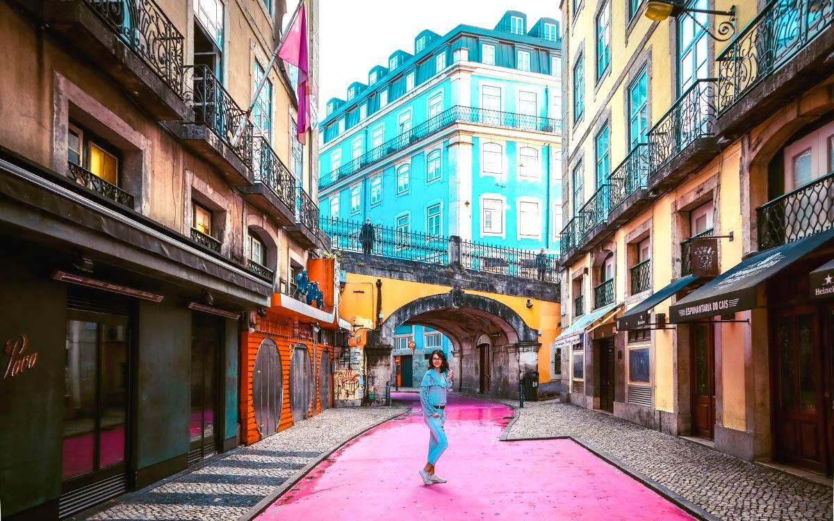Lisbon Pink Street