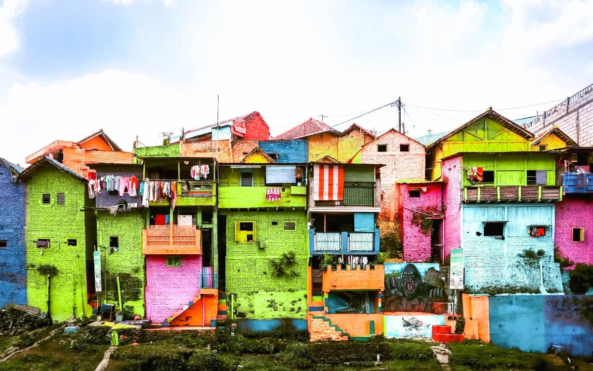 Rainbow Village Malang, Indonesia - most colorful destinations in the world, vibrant cities, colorful cities, colorful earth, vibrant places around the world