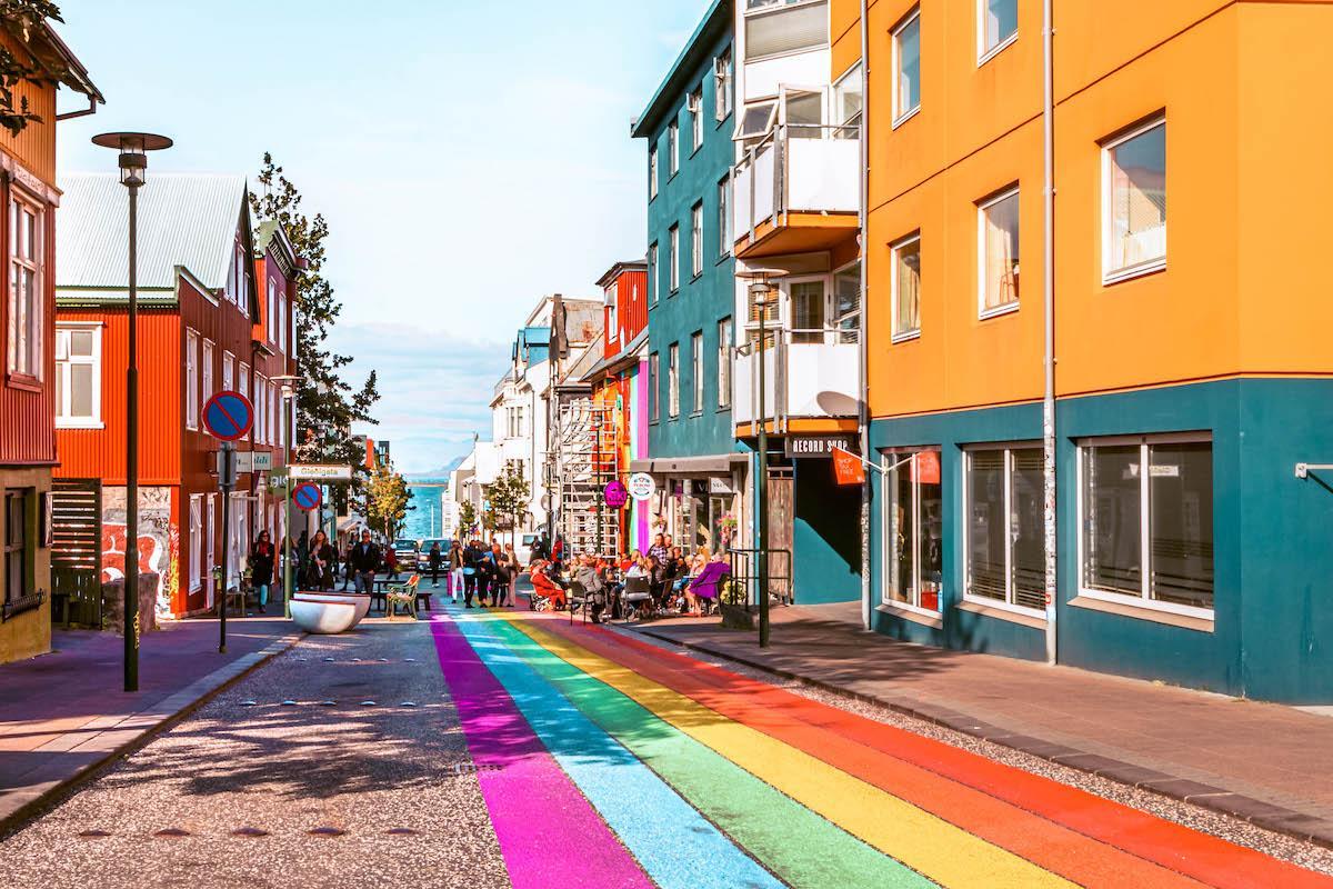 Reykjavik Rainbow Street Iceland