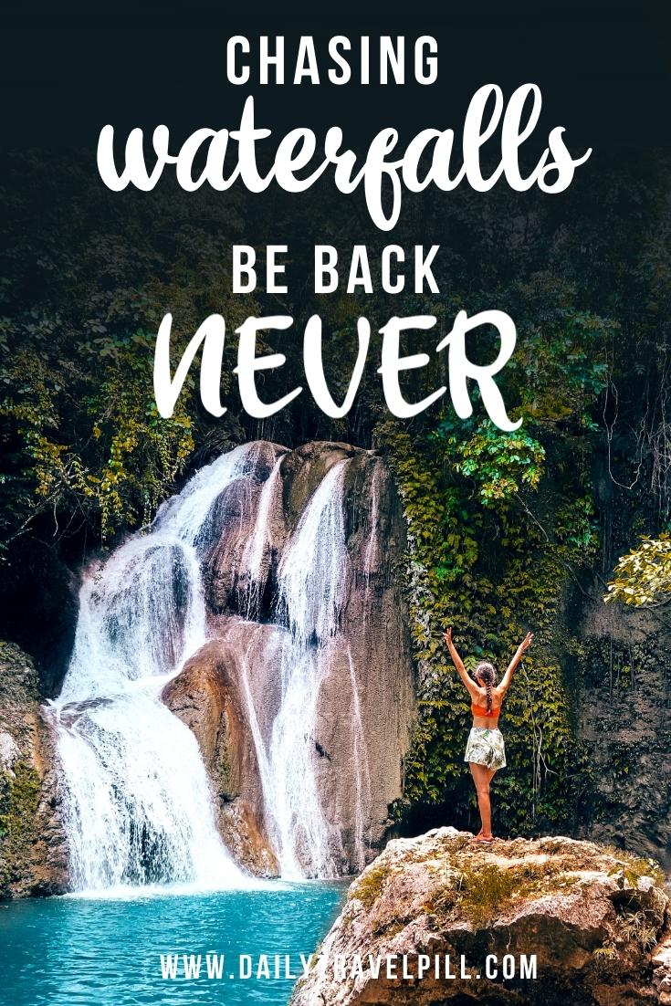 quotes about waterfalls, sayings about waterfalls, inspirational quotes about waterfalls, waterfall captions for Instagram, funny waterfall quotes, instagram captions about waterfalls