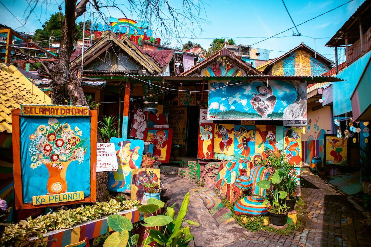 Semarang Rainbow Village on Java Island, Indonesia - Kampung Pelangi