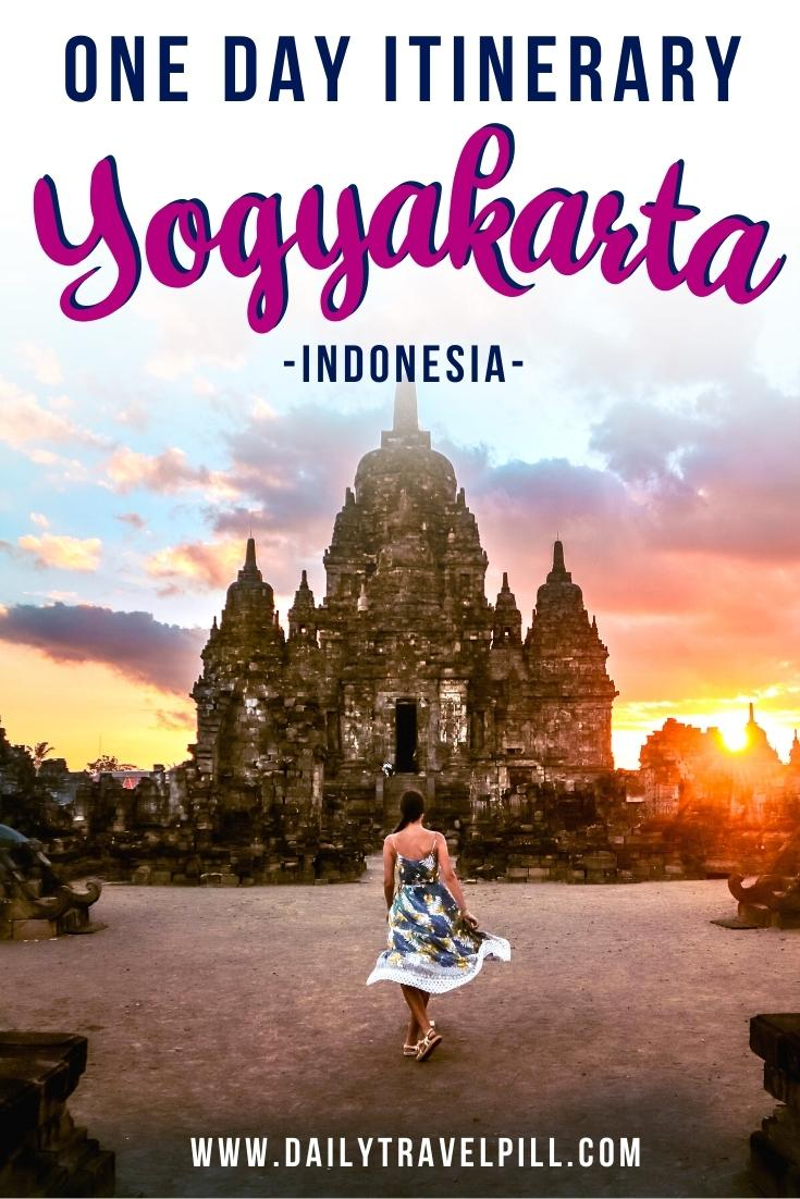 how to spend one day in Yogyakarta - itinerary