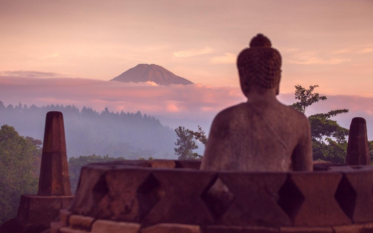Incredible sunrise at Borobudur Temple, Yogyakarta