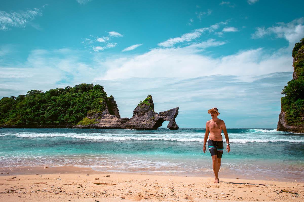 Dan Moldovan at Atuh Beach Nusa Penida