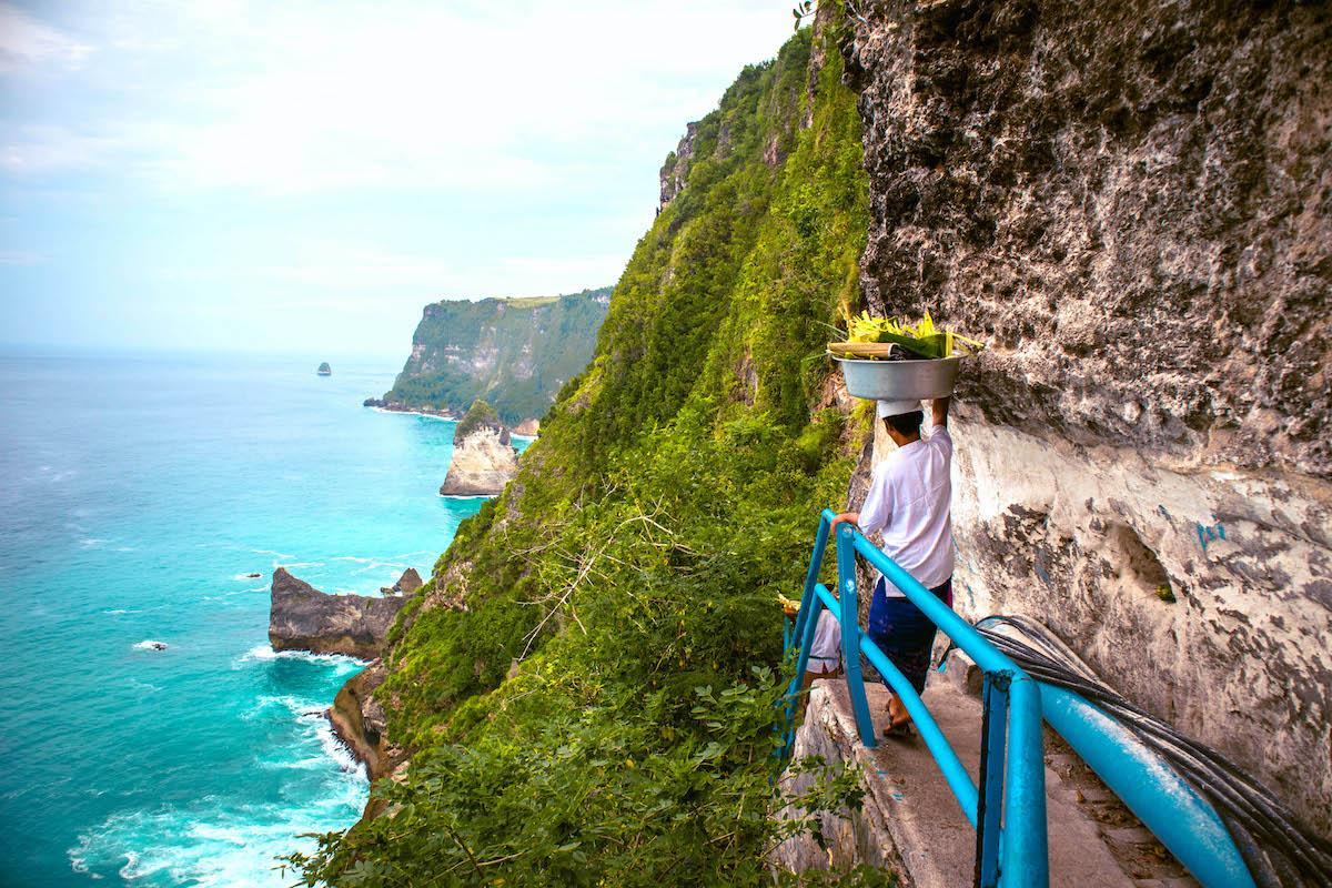 Peguyangan Waterfall Nusa Penida - Bali, Pura Segara Kidul Nusa Penida, Nusa Penida Blue Stairs, Peguyangan Waterfall infinity pool, Peguyangan Temple