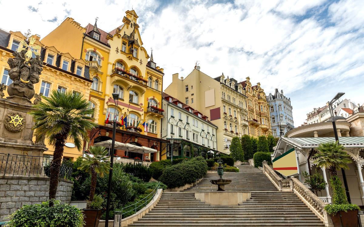 Karlovy Vary Stairs near Market Colonnade