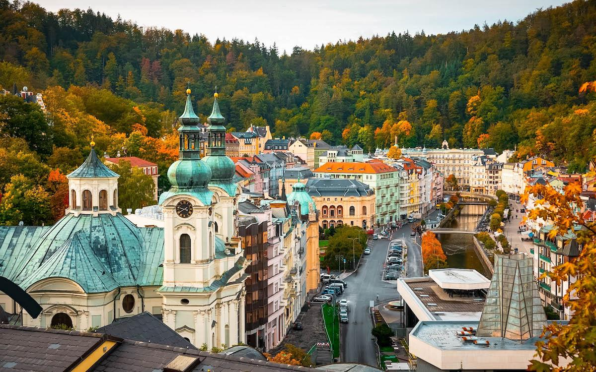 Karlovy Vary city view