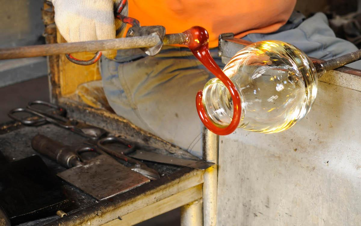 Glass blowing at Moser Glass Museum, Karlovy Vary