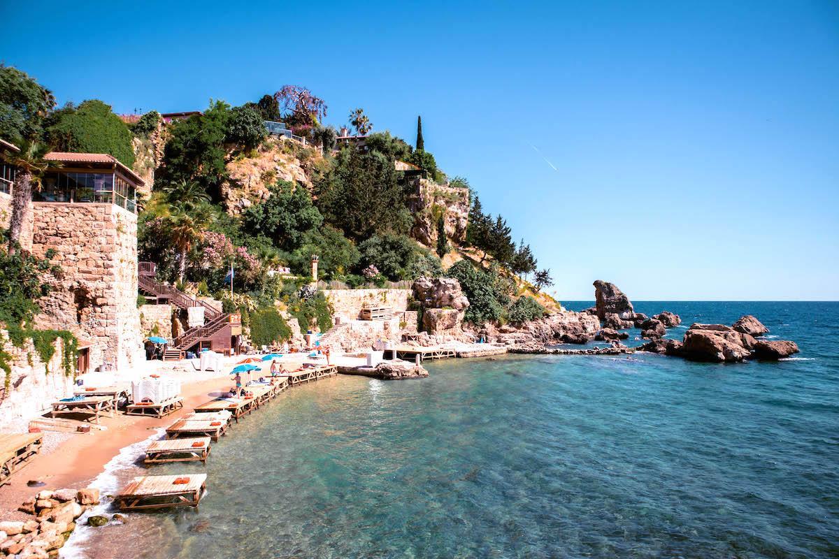 mermerli beach antalya city