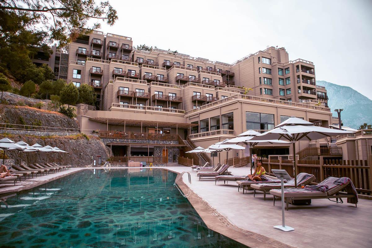 Ng Phaselis Bay Hotel Antalya cliffside pool