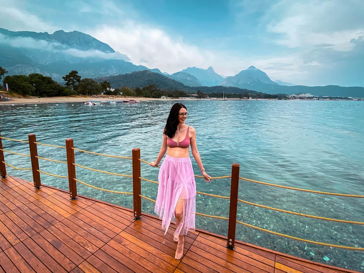 Ng Phaselis Bay Hotel Antalya wooden dock