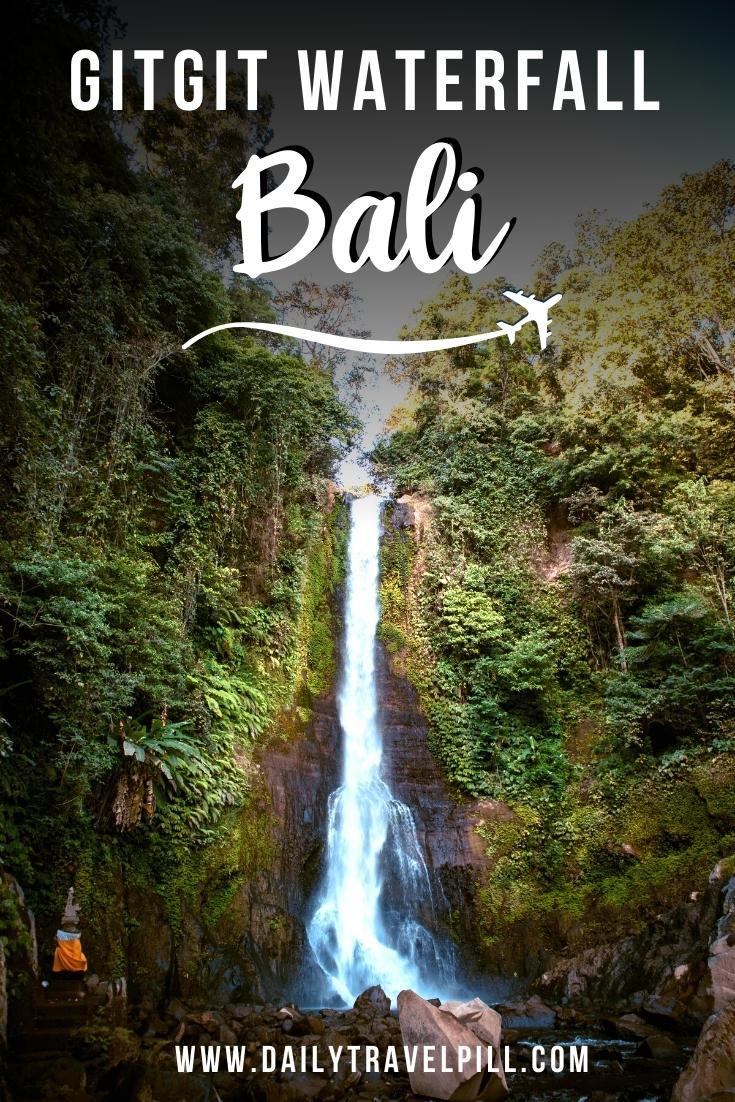gitgit waterfall bali, git git waterfall bali, air terjun gitgit, gitgit twin waterfall