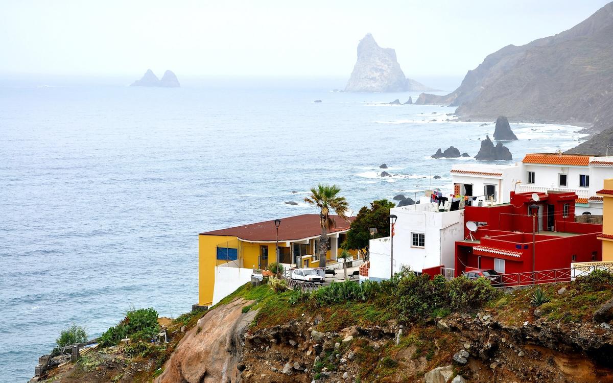 Houses at Playa de Benijo