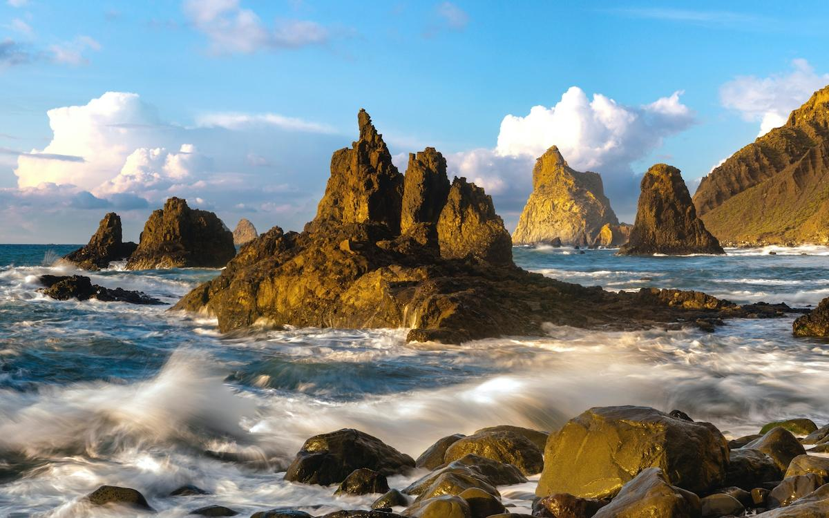 Playa de Benijo rocks and boulders