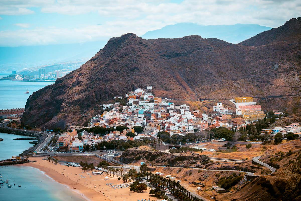 San Andres village seen from Playa de Las Teresitas viewpoint