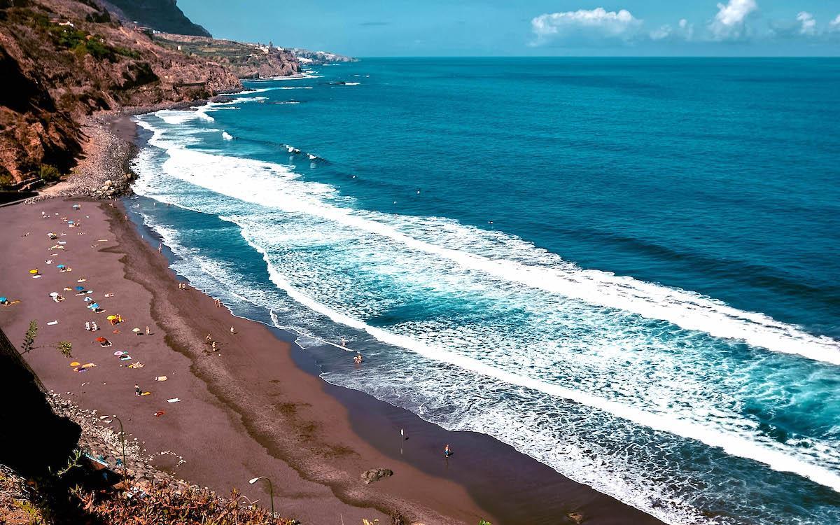 black sand beach tenerife, best tenerife black sand beaches, playa el socorro, El socorro beach tenerife