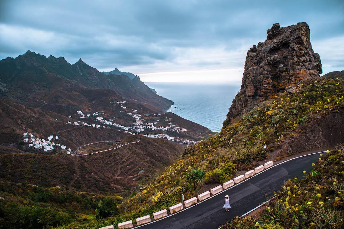 Road in Anaga Rural Park, Tenerife